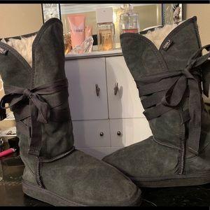 Emu wool lace up boots